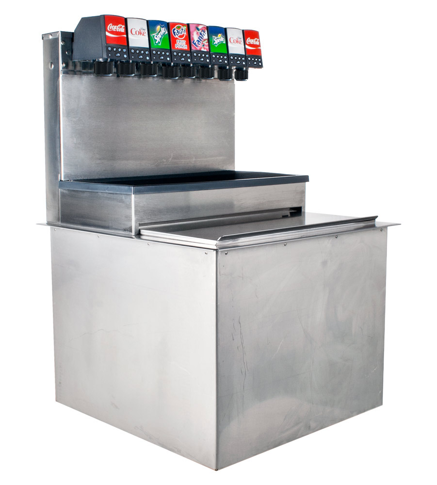 6-Flavor Drop-In Soda Fountain System with Portion Control Valves
