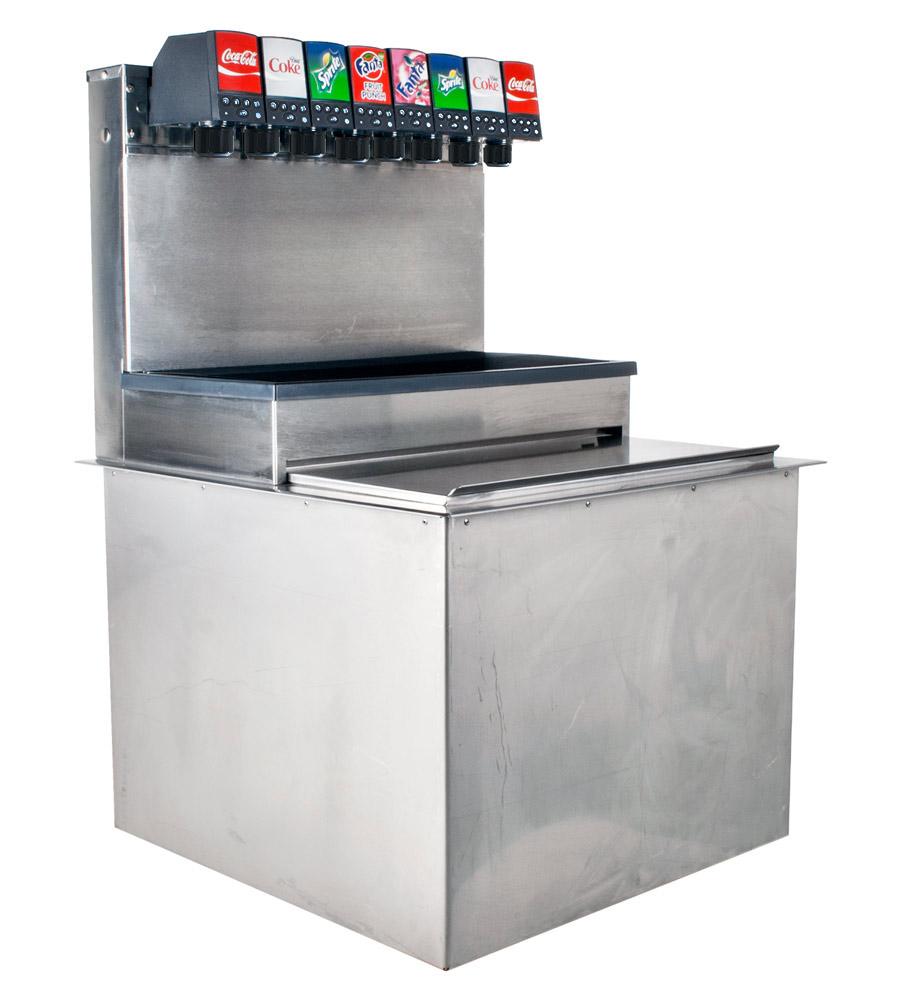 6-Flavor Drop-in Soda Fountain (angle)