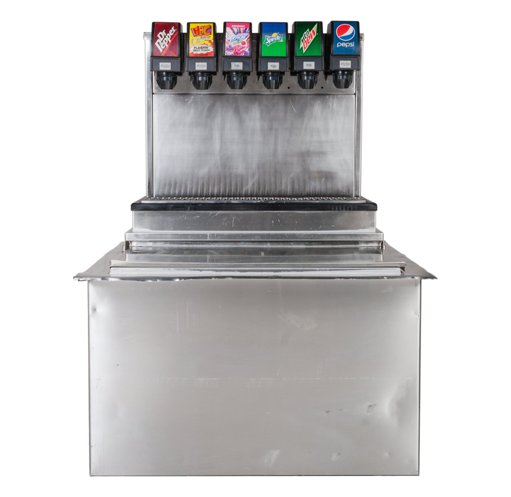6-Flavor Drop-in Soda Fountain (front)