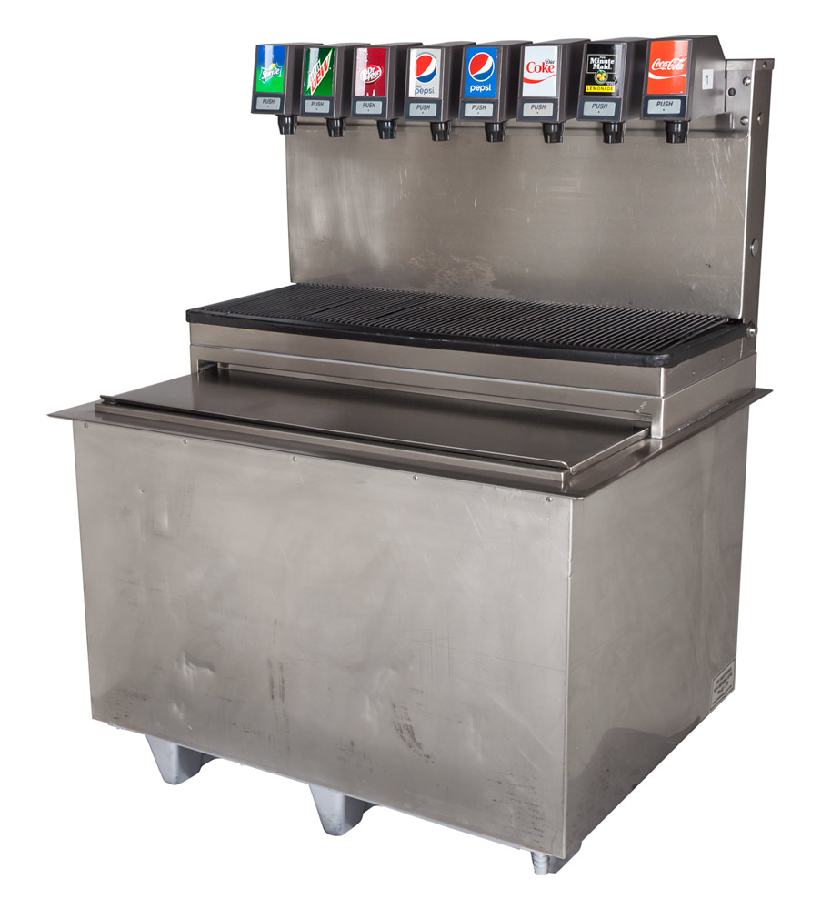 8-Flavor Drop-In Soda Fountain System with Cabinet