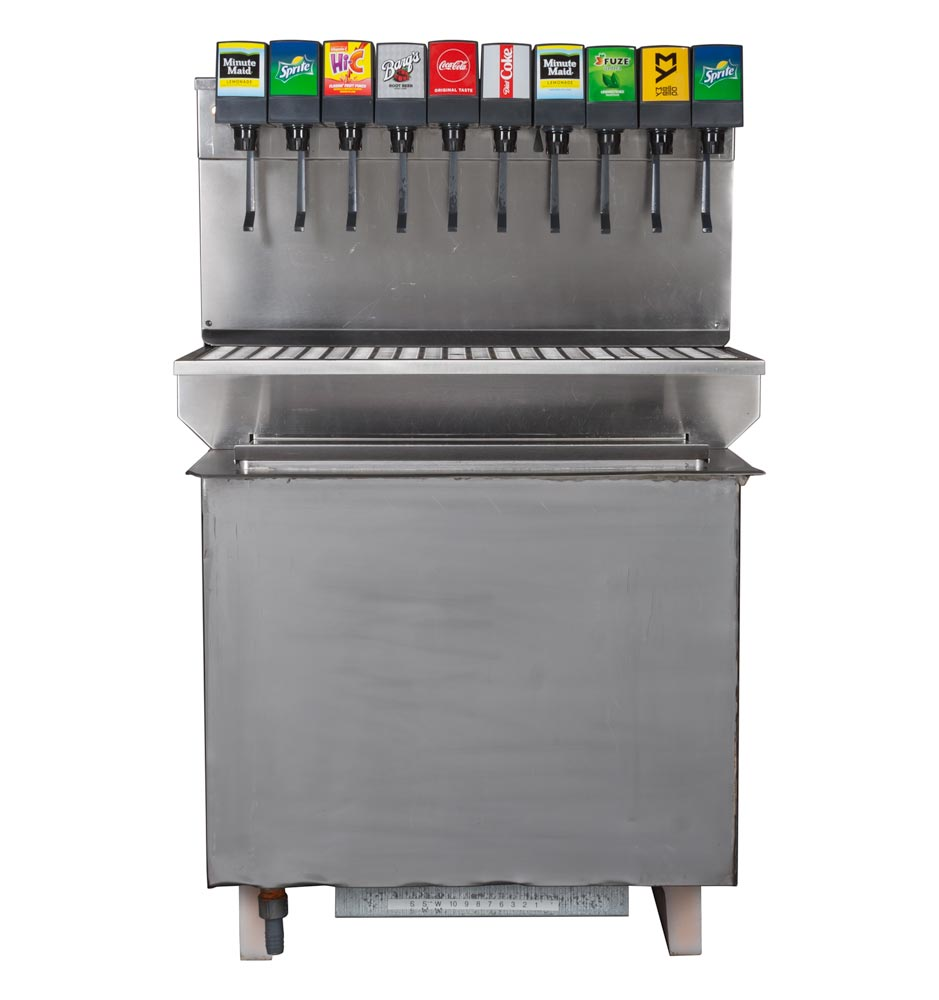 10-Flavor Drop-in Soda Fountain (front)