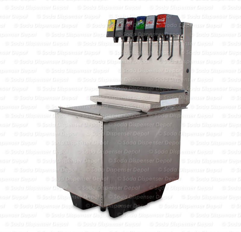6-Flavor Drop-in Soda Fountain (angle)