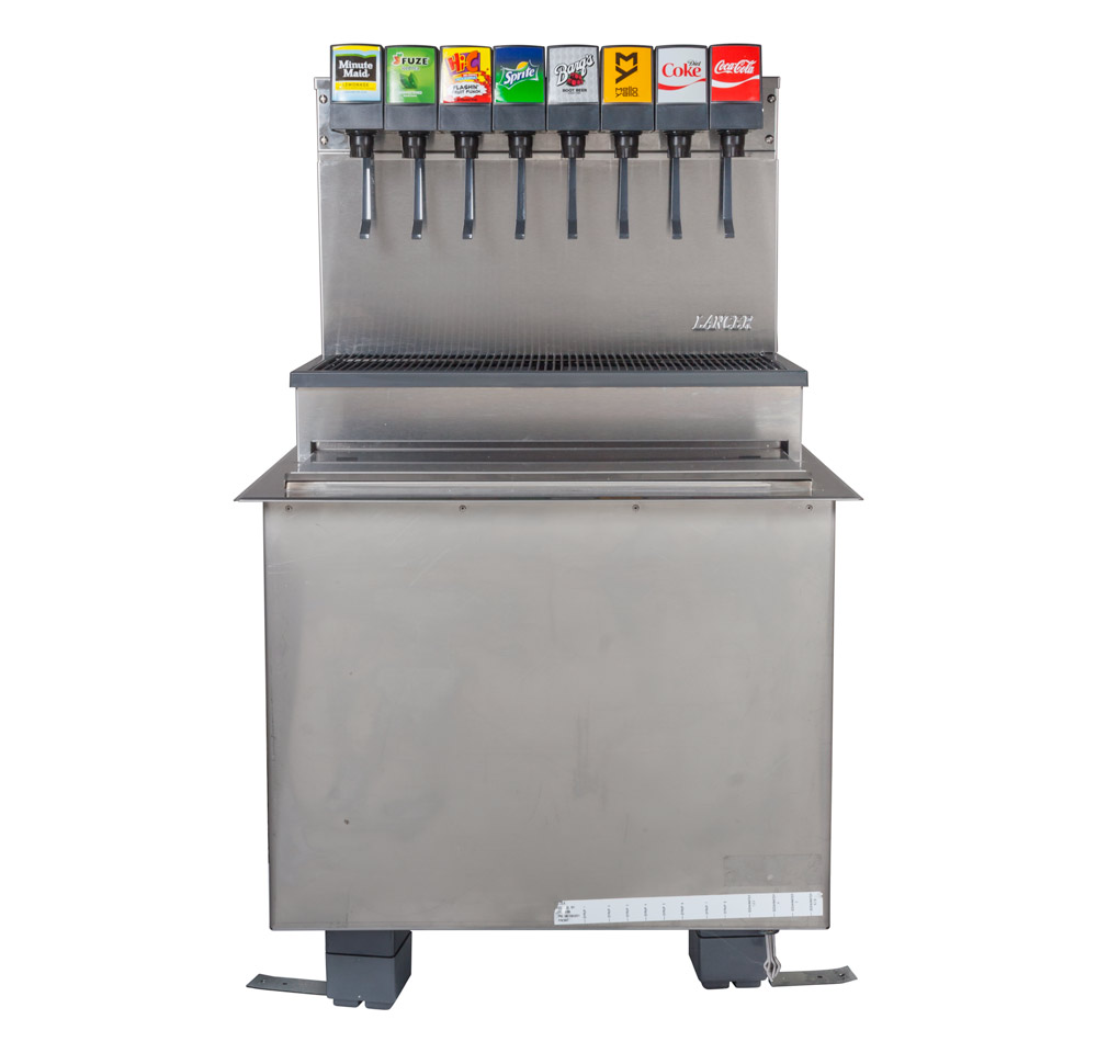 8-Flavor Drop-in Soda Fountain (front)