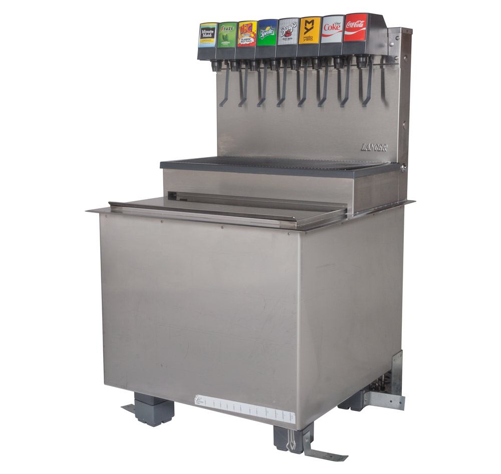 8-Flavor Drop-in Soda Fountain (angle)