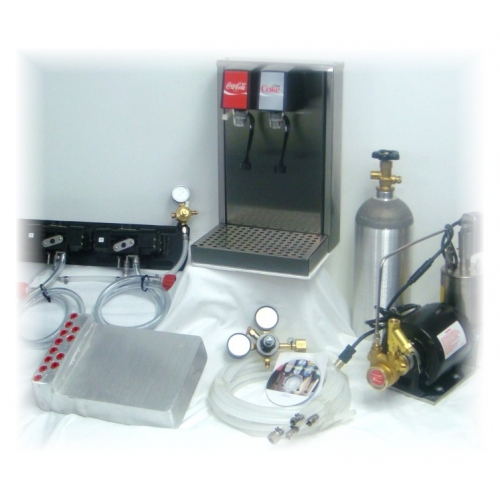 2-Flavor Tower Soda Fountain System with Cold Plate (NEW)