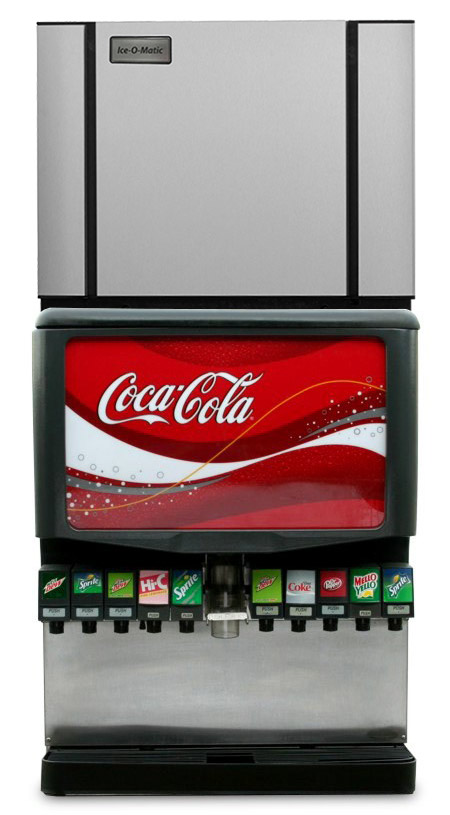 "10-Flavor Ice & Beverage Soda Fountain System w/ NEW 30"" Ice Maker"