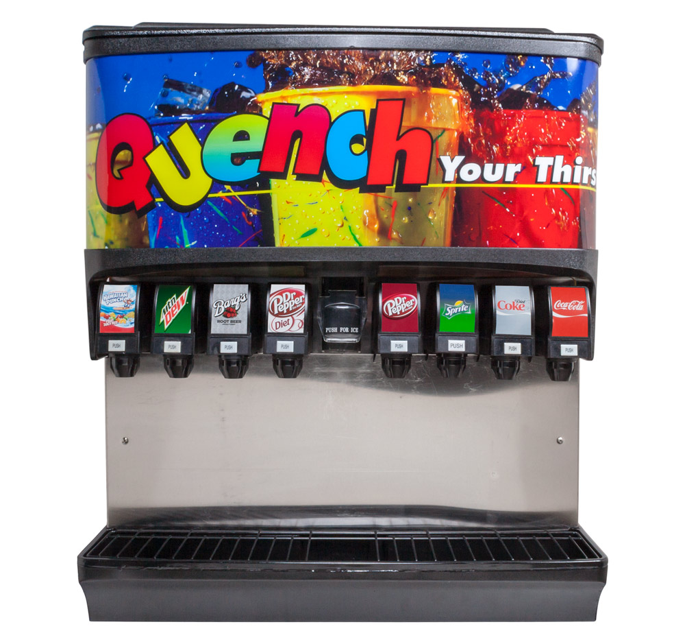 8-Flavor Ice & Beverage Soda Fountain System (front)