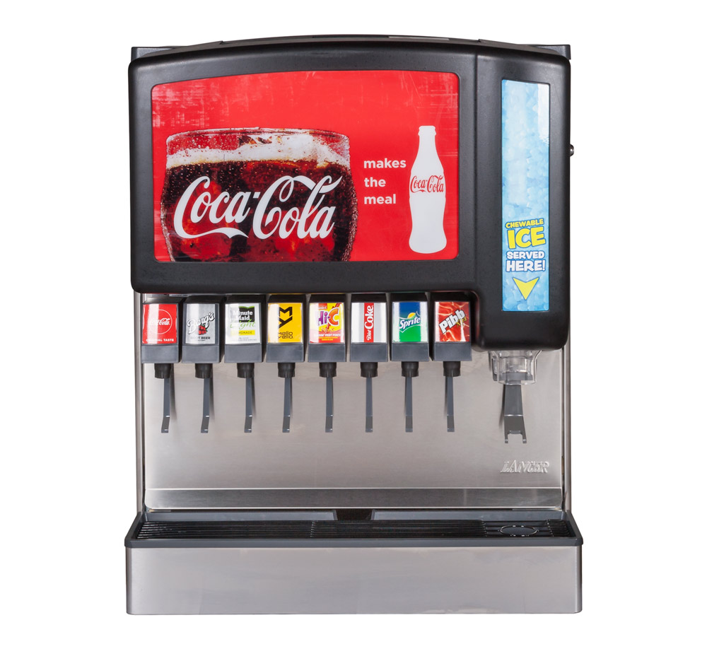 8-Flavor New Old Stock Ice & Beverage Soda Fountain System (front)