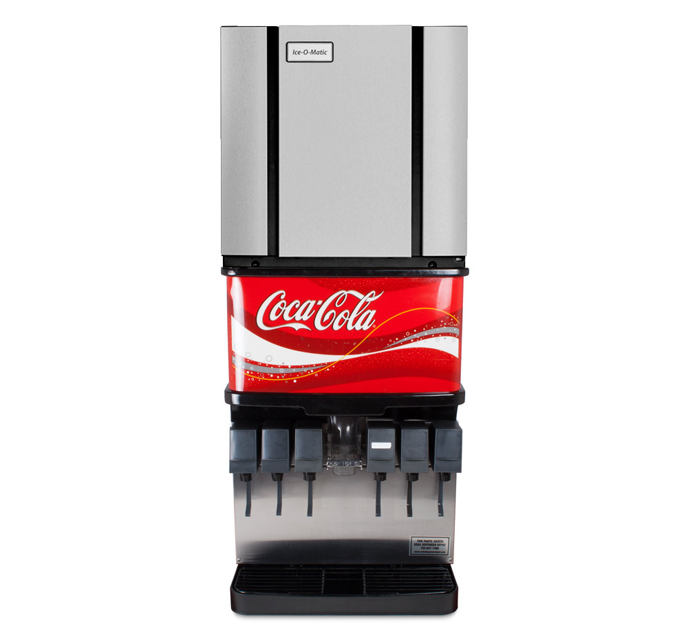 6-Flavor Ice & Beverage Soda Fountain System w/ NEW, Scratch & Dent Ice Machine
