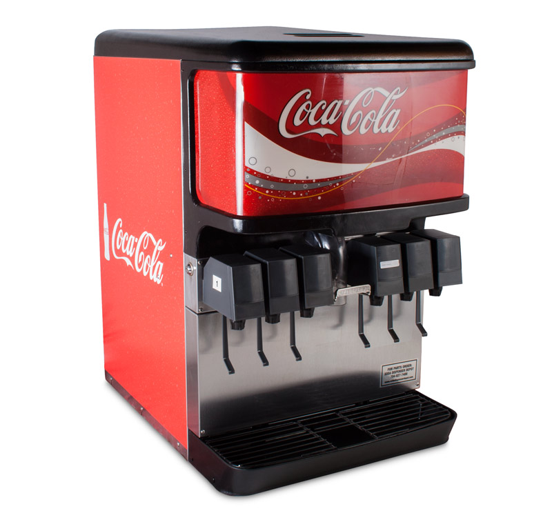 6-Flavor Ice & Beverage Soda Fountain System (angle)