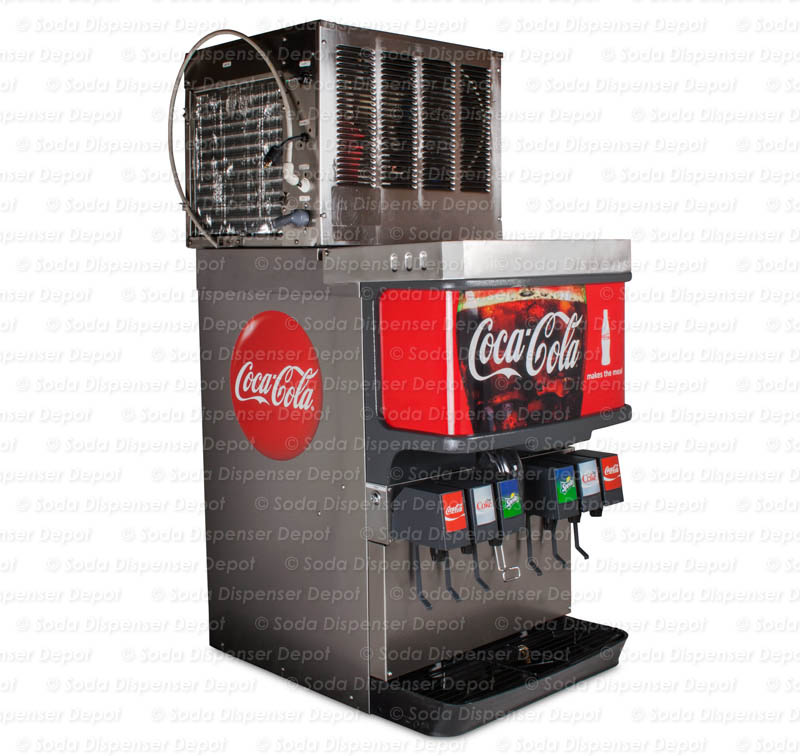 soda fountain machine with ice maker