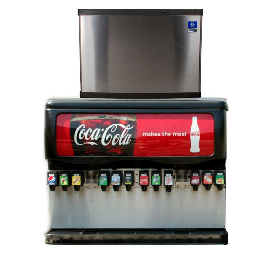 12-Flavor Ice & Beverage Soda Fountain System w/ Ice Maker