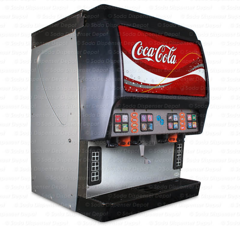 16-Flavor Ice & Beverage Soda Fountain System (angle)