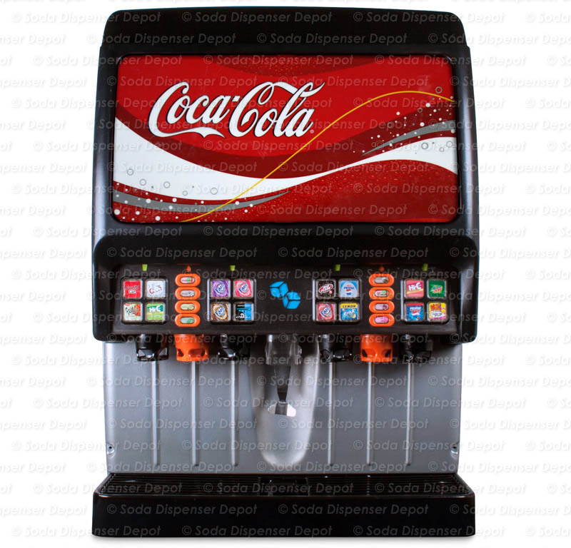 16-Flavor Ice & Beverage Soda Fountain System w/ Flavor Shots