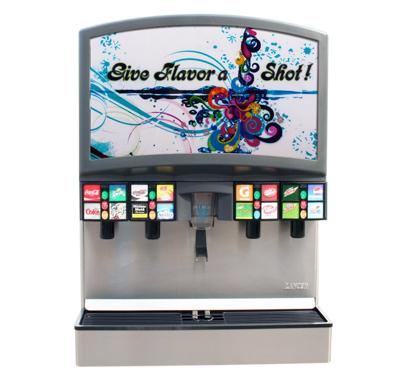 16-Flavor Ice & Beverage Soda Fountain System (front)