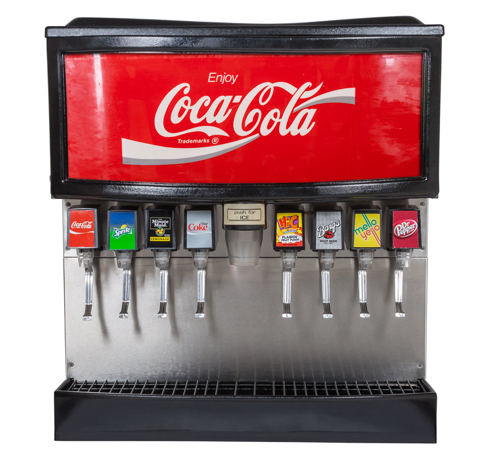 8-Flavor Ice and Beverage Soda Fountain System