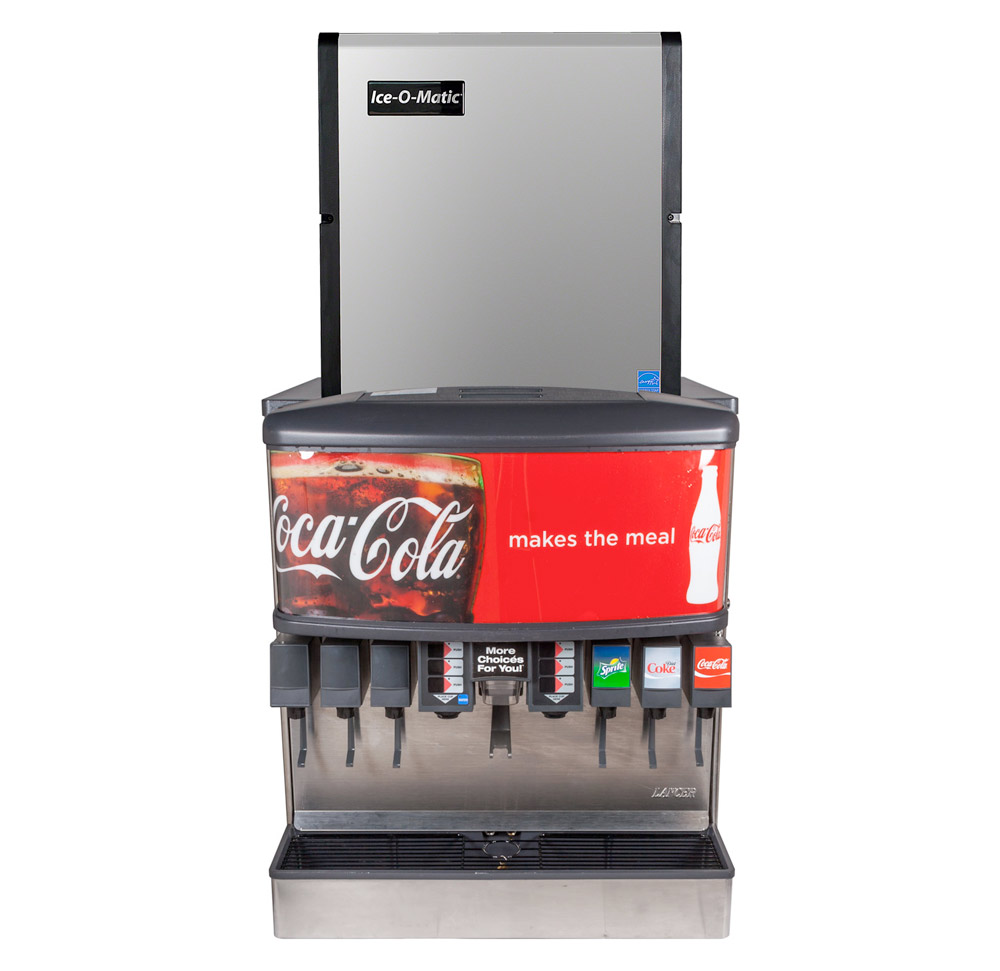 "12-Flavor Ice & Beverage Soda Fountain System w/ NEW 22"" Ice Maker"