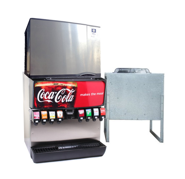 8-Flavor Ice & Beverage Soda Fountain System w/ Remote Ice Maker