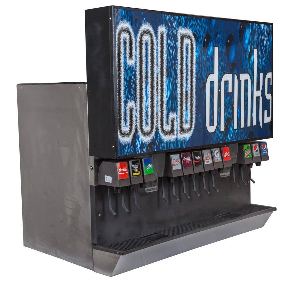 12-Flavor Ice & Beverage Soda Fountain System