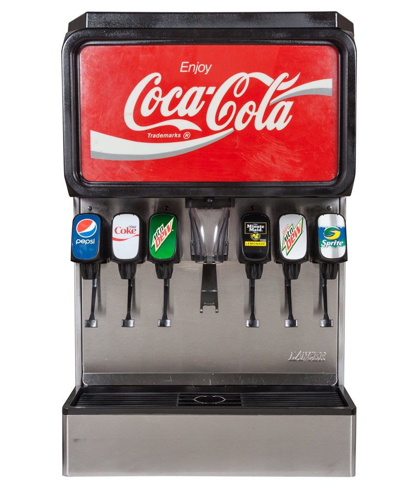 coca cola soda dispenser machine