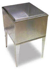 "21"" x 23"" 7 Circuit Ice Bin Cold Plate (Freestanding)"