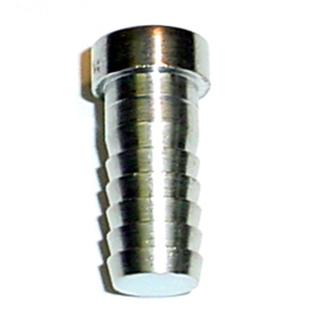 "1/4"" Stainless Barbed Plug"