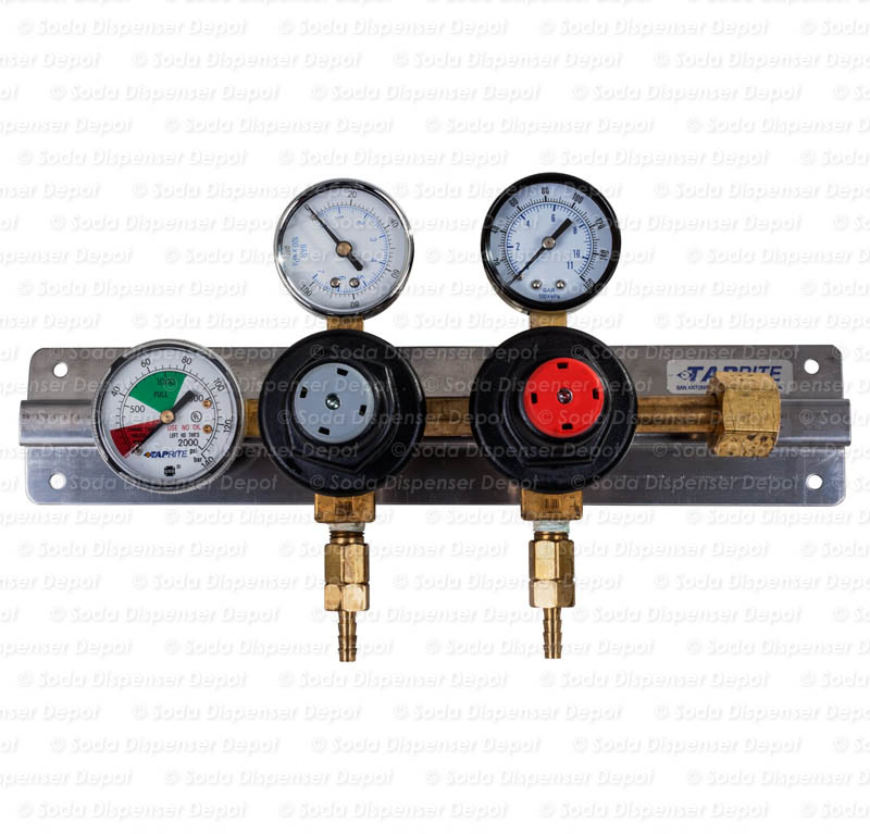 TAPRITE Triple Gauge Bottle Mount CO2 Regulator