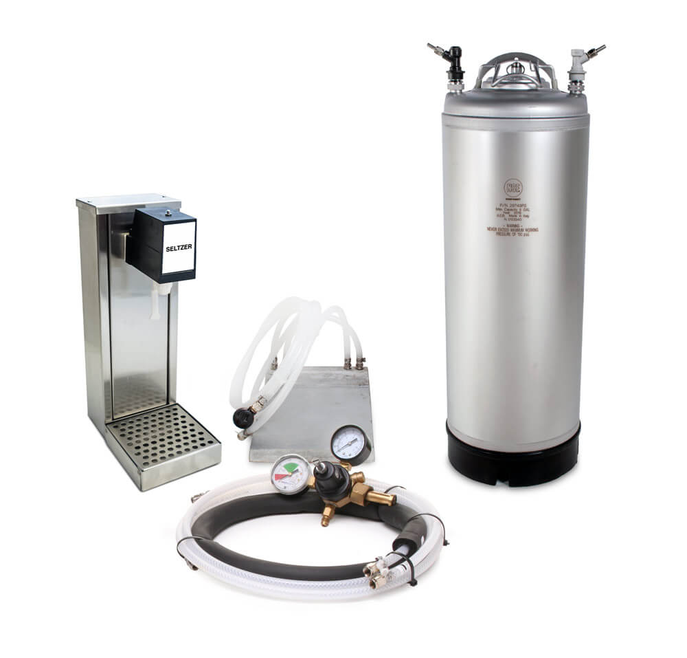 Seltzer Tower Non-Electric Soda Fountain System with Cold Plate