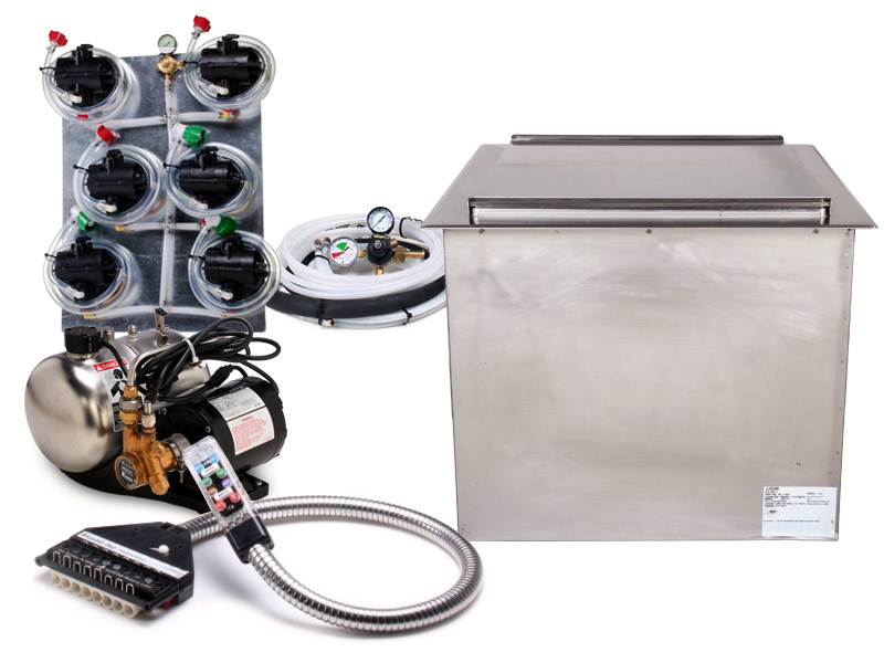 8-Flavor Soda Gun System with 21 x 23 Ice Bin Cold Plate Drop-in