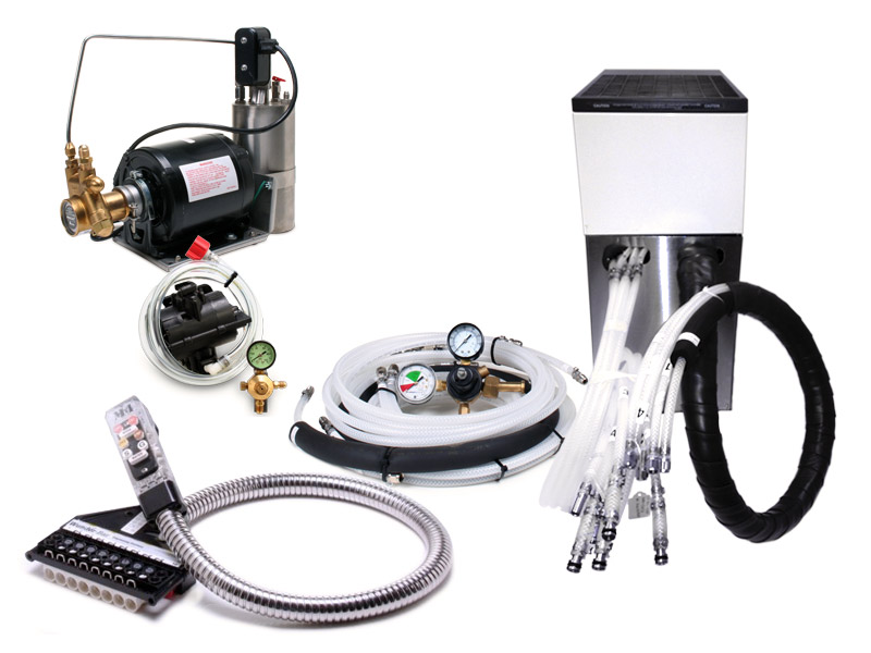 1-Flavor Soda Gun Fountain System with Remote Chiller
