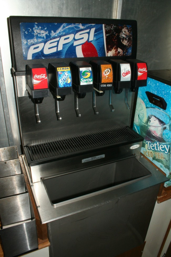 5-Flavor Drop-In Soda Fountain System