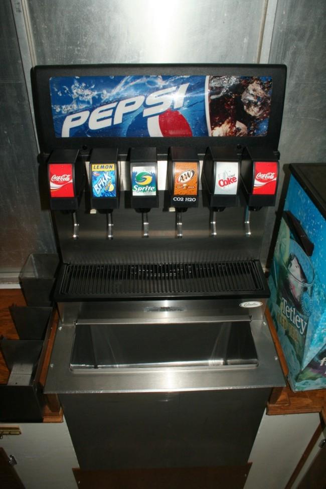 6-Flavor Sidewinder Drop-in Soda Fountain (front)