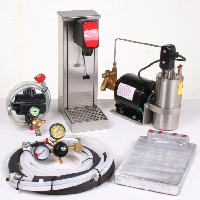 1-Flavor Tower Soda Fountain System with Cold Plate