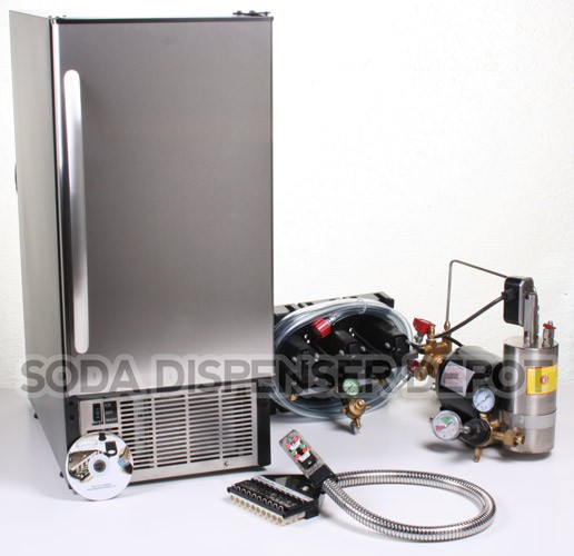 3-Flavor Soda Gun Cold Plate Soda Fountain System