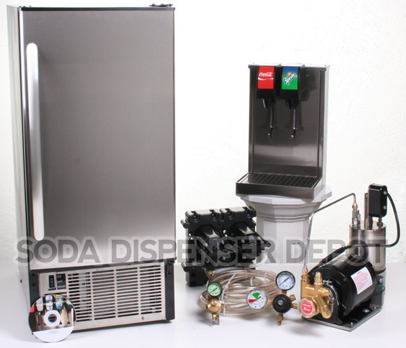 2-Flavor Tower Cold Plate Soda Fountain System