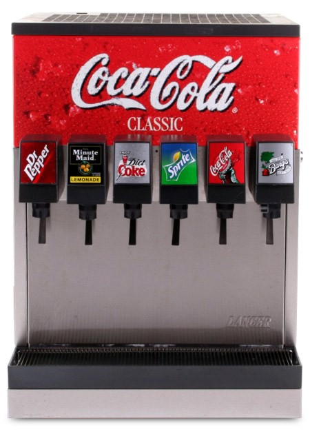 6-Flavor Counter Electric Soda Fountain System (front)