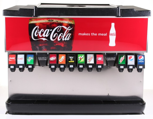 12-Flavor Ice & Beverage Soda Fountain System (front)