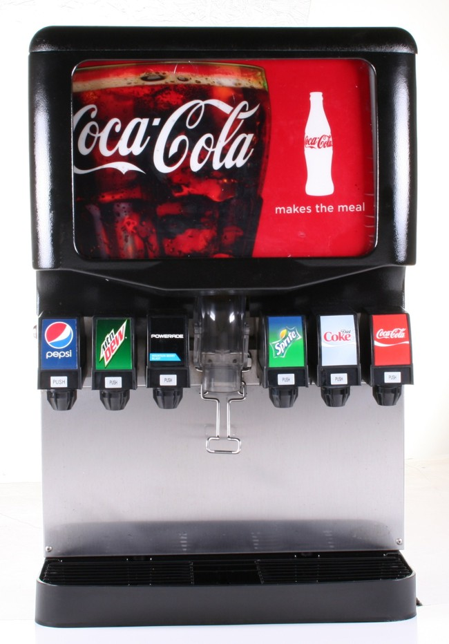 6-Flavor Ice & Beverage Soda Fountain System (front)