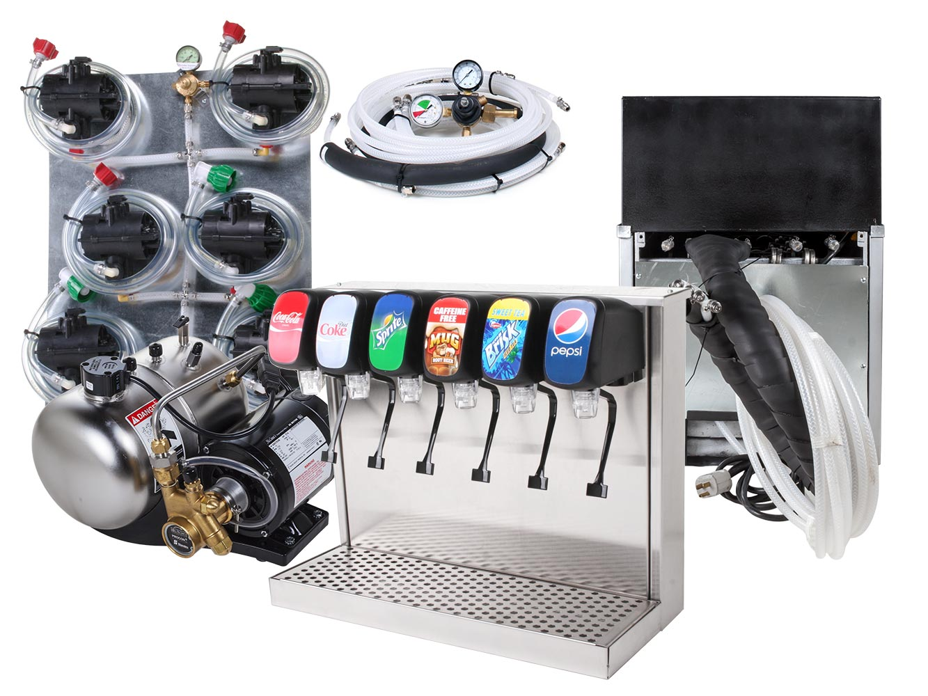 6-Flavor Tower Remote Soda Fountain System