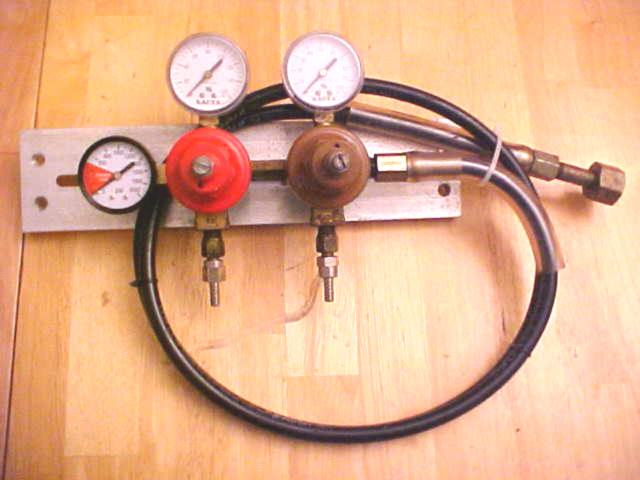 Triple Gauge Regulator (USED) with High Pressure Flex Hose