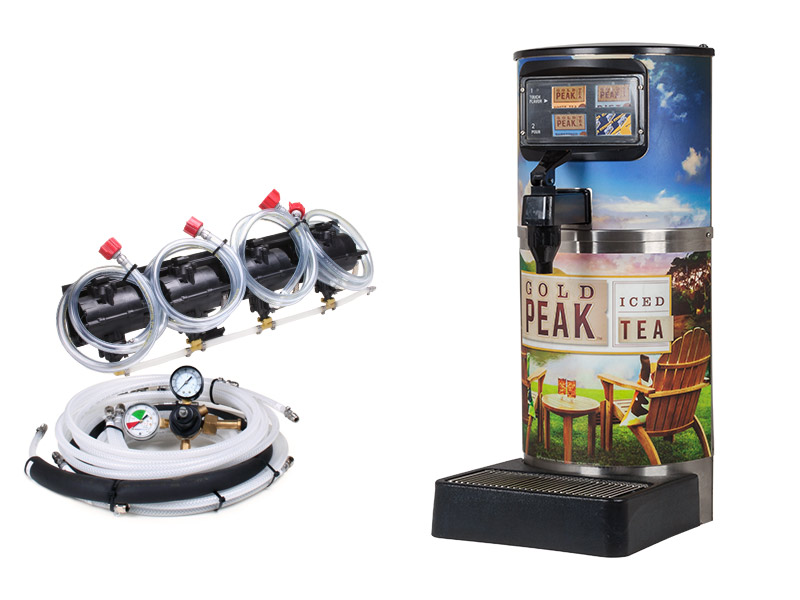 4-Flavor Gold Peak Tea Dispenser System