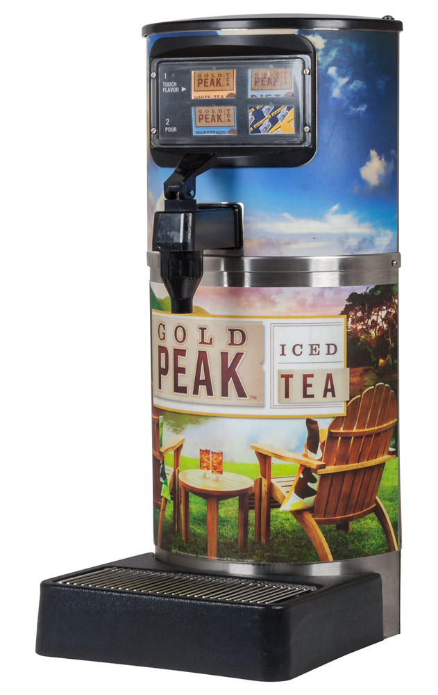 4-Flavor Gold Peak Tea Dispenser (angle)