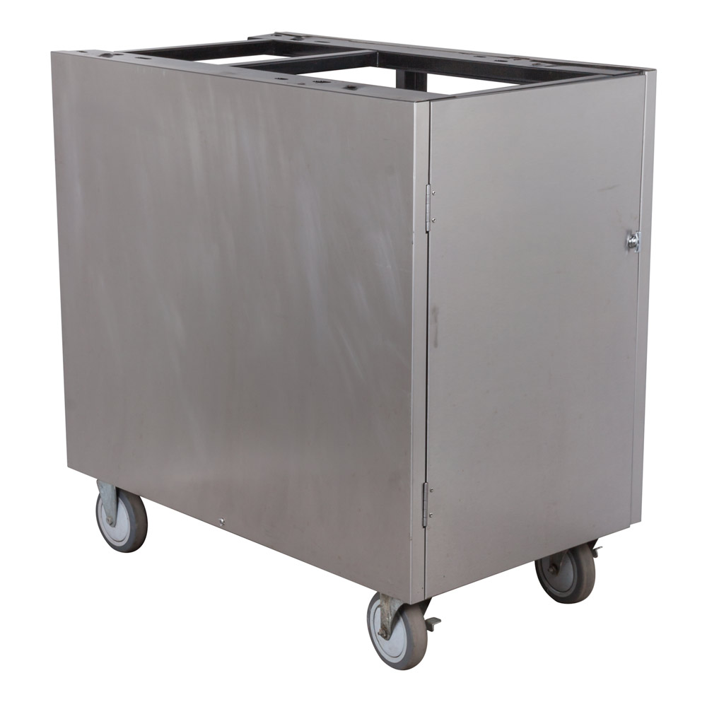Rolling Stainless Cabinet w/ Syrup Racks