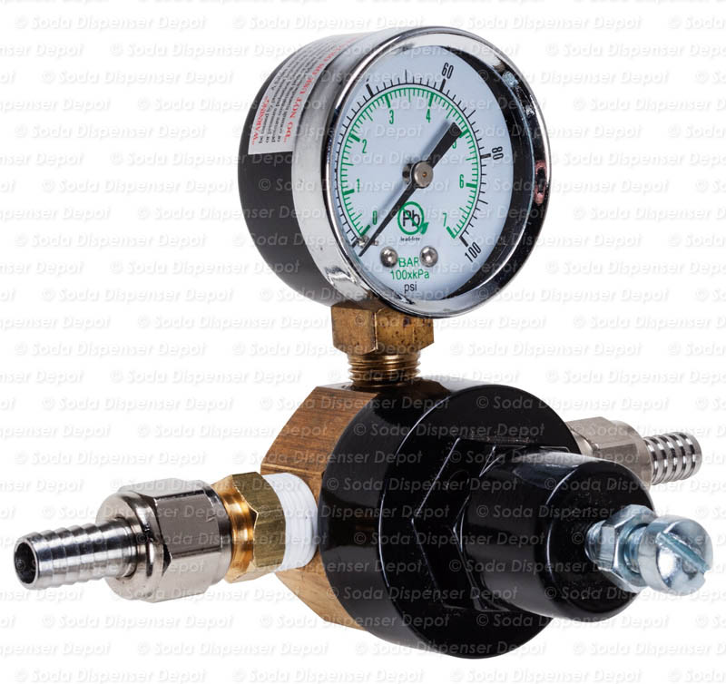 Water Pressure Regulator with Dial (angle)