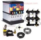 6-Flavor Ice and Beverage Soda Fountain System (NEW)